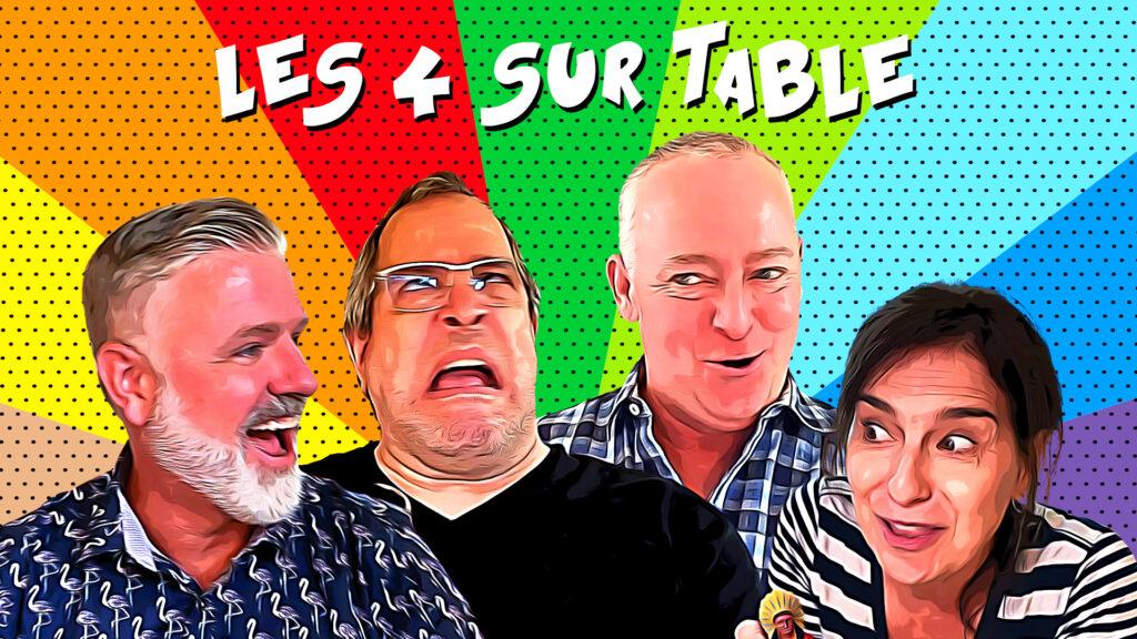 Série Web les 4 sur table. Comatv.tv